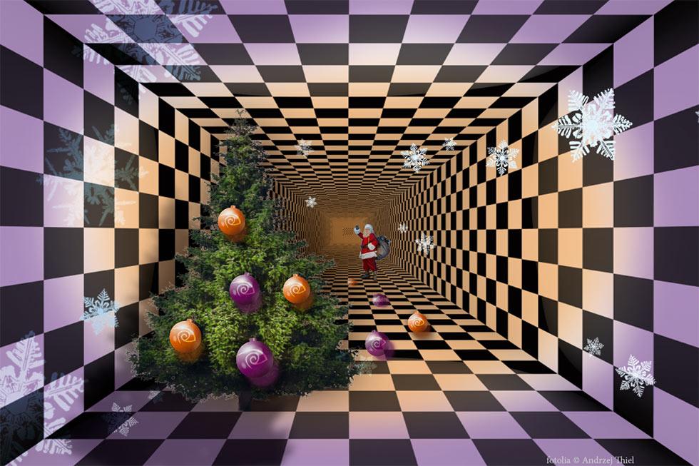 Weihnachten - Collage, Stefan Lohmeyer - Hintergrund, Fotolia Andrzej Thiel